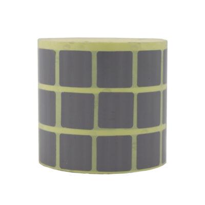 لیبل کاغذی رنگی سه ردیفه 20x20