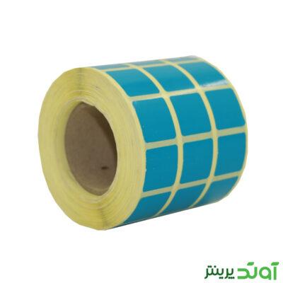 لیبل کاغذی رنگی سه ردیفه 20x20 - 20x20