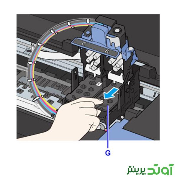 هد پرینتر کانن سری G - مراحل نصب هد 6-2-