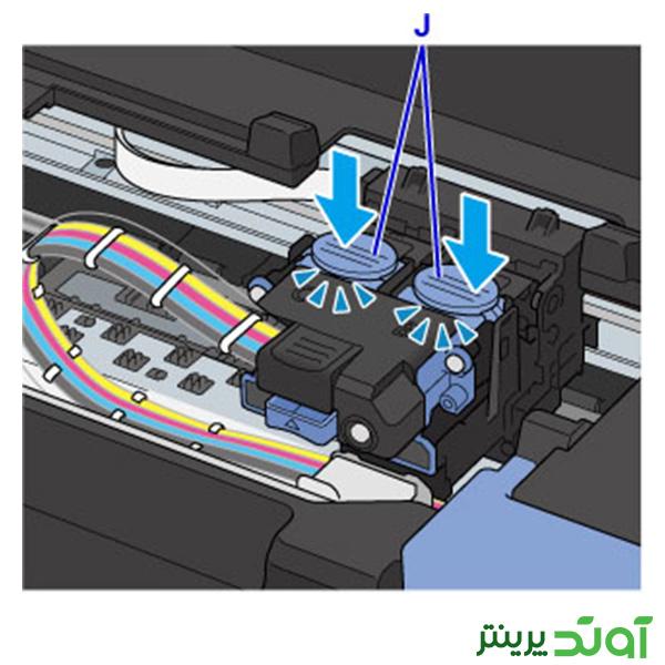 هد پرینتر کانن سری G مراحل نصب هد 9--