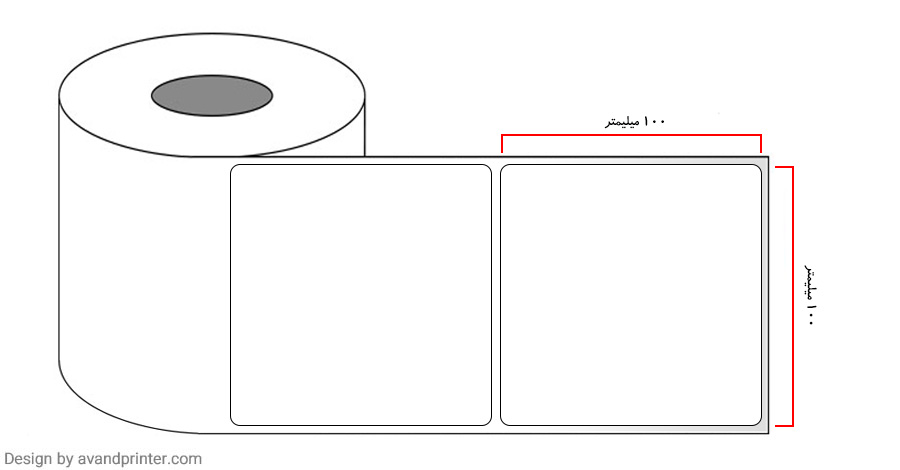 100×100 PVC label single-row 4