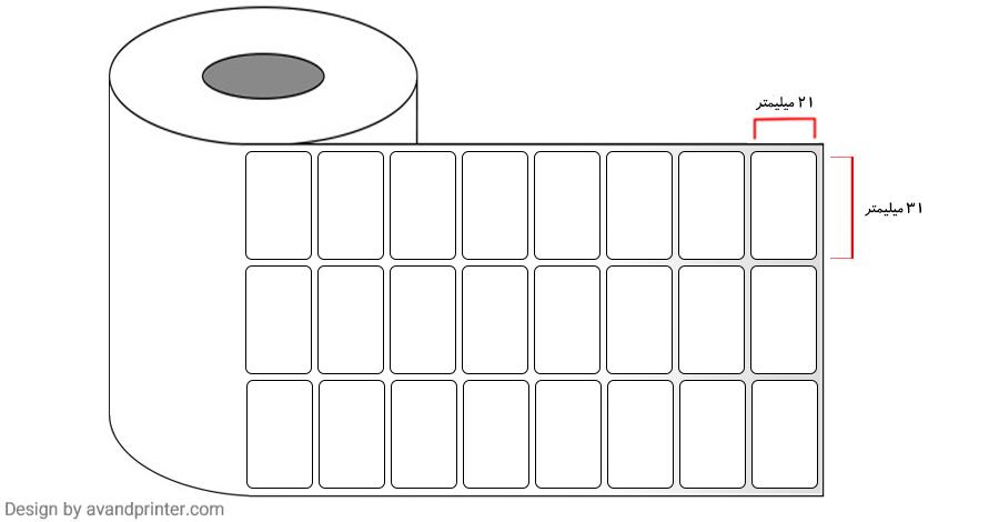 31×21 Label PVC three rows 4
