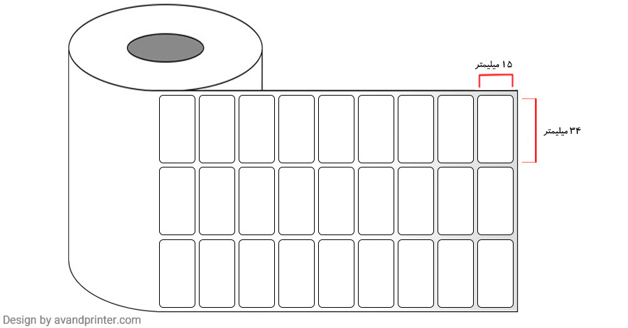 34×15 Label PVC three rows 6