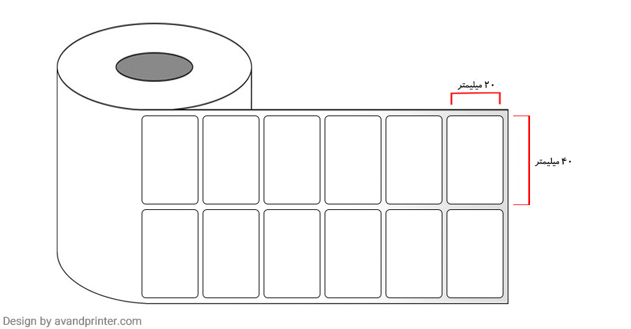 40×20 PVC label single-row  4