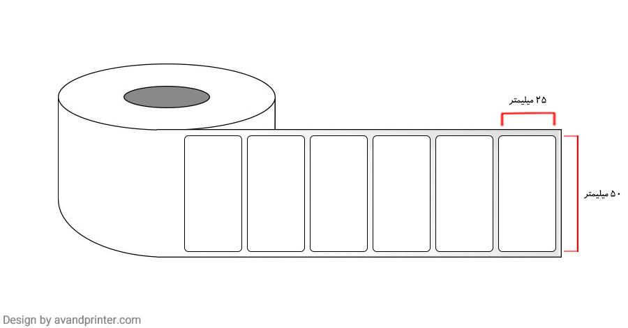 50×25 Label PVC two rows 5