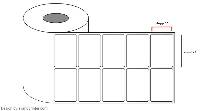 51×34 Label PVC two rows4