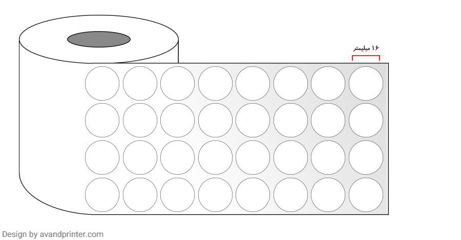 PVC Label 16 mm 4 Rows