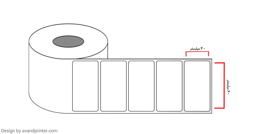 PVC label single row 40 × 60
