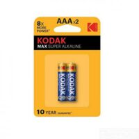 باتری نیم قلمی کداک Max Super AAAx2 1.5V