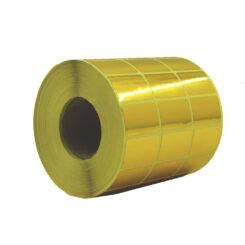 لیبل (برچسب) کاغذی طلایی سه ردیفه Paper Label 21x31