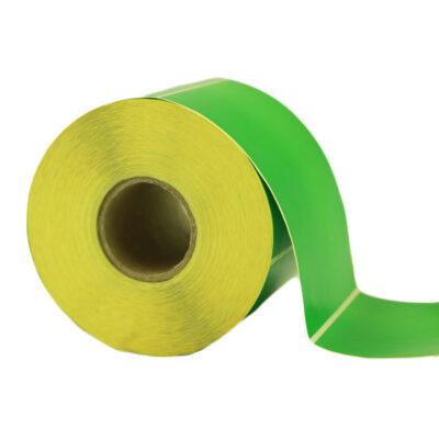 لیبل (برچسب) کاغذی سبز تک ردیفه Paper Label green 95x125