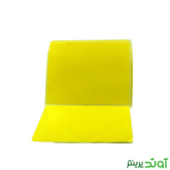 لیبل (برچسب) کاغذی زرد تک ردیفه Paper Label 80x100